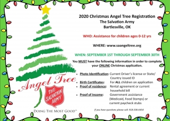 Bartlesville Open Christmas 2020 Bartlesville Radio » News » Salvation Army Announces Angel Tree